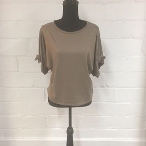 Halogen Cold-Shoulder Tee - Petite